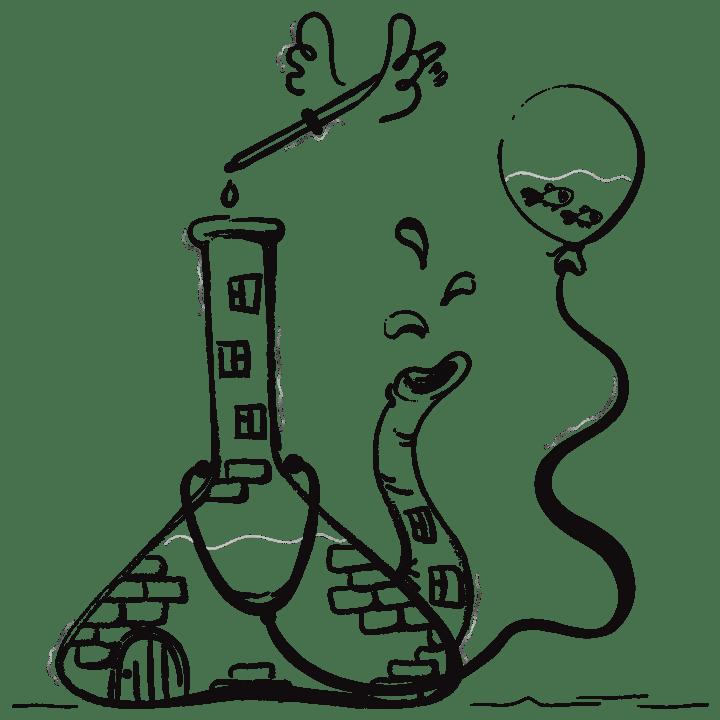 Illustration of lab equipment